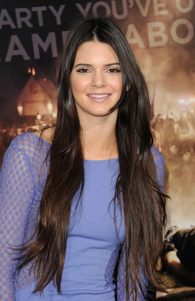 More Pics Of Kendall Jenner Long Straight Cut 9 Of 17