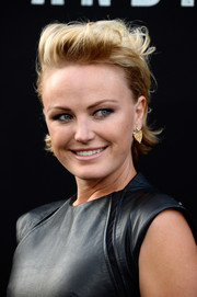 Malin Akerman looked cool with her messy fauxhawk at the 'San Andreas' premiere.