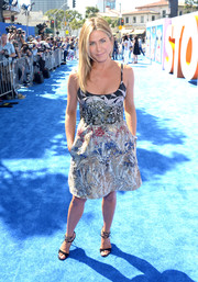 Jennifer Aniston looked like a walking work of art in this painterly print dress by Valentino during the premiere of 'Storks.'