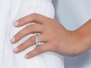 Reality star Kristin Cavallari showed off her decadent 5.2 carat engagement ring at the premiere of 'Something Borrowed.' The square-cut ring is reportedly worth $125K.