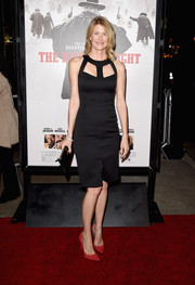 Red pumps added a splash of color to Laura Dern's look.