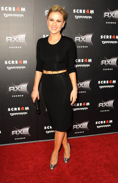 Anna Paquin teamed her cut-out dress with metallic silver Maniac pumps at the premiere of 'Scream 4.'
