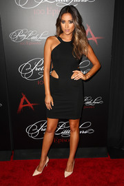 Shay Mitchell oozed sex appeal in a tight-fitting cutout LBD by Cushnie et Ochs during the 'Pretty Little Liars' 100th episode celebration.