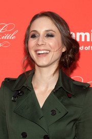 Troian Bellisario went heavy on the eyeshadow for a bit of drama to her beauty look.