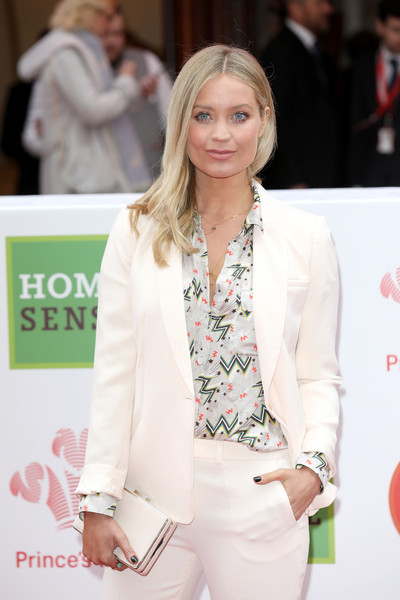 More Pics of Laura Whitmore Pantsuit (1 of 2) - Laura Whitmore Lookbook - StyleBistro [white,clothing,fashion,skin,suit,beauty,outerwear,hairstyle,yellow,blond,red carpet arrivals,laura whitmore,awards,homesense awards,london palladium,england,the princes trust,tkmaxx]