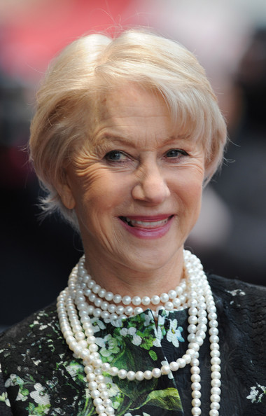 More Pics of Helen Mirren Print Dress (4 of 5) - Helen Mirren Lookbook - StyleBistro