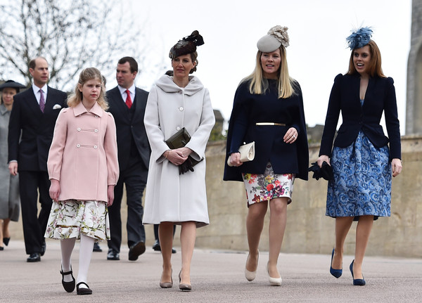 Royal Family Attend Easter Sunday Service At Windsor Castle