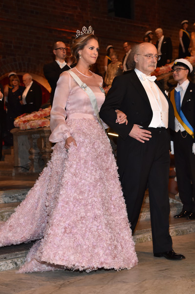 Princess Madeleine Princess Gown [event,fashion,gown,dress,formal wear,lady,haute couture,ceremony,fun,performance,f. duncan m. haldane,madeleine of sweden,nobel prize,nobel prize in physics,stockholm,city hall,sweden,nobel prize banquet]