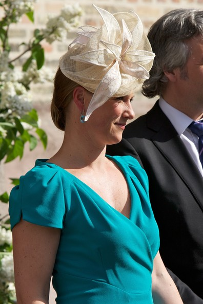 Princess Martha Louise Decorative Hat [turquoise,headgear,headpiece,fashion accessory,dress,bridal accessory,hair accessory,formal wear,neck,hat,martha louise of norway,harald,sonja,church service,norway,oslo cathedral,birthdays,occasion,birthdays]