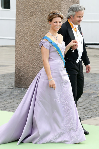 Princess Martha Louise Off-the-Shoulder Dress [martha louise of norway,christopher oneill,madeleine of sweden,silvia,ari mikael behn,gown,dress,clothing,wedding dress,lady,bridal clothing,formal wear,shoulder,tradition,fashion,wedding of princess madeleine,wedding ceremony,banquet,the royal palace,sweden]