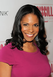 Audra McDonald wore her polished tresses in center part curls at the opening night of 'Priscilla Queen of the Desert.'