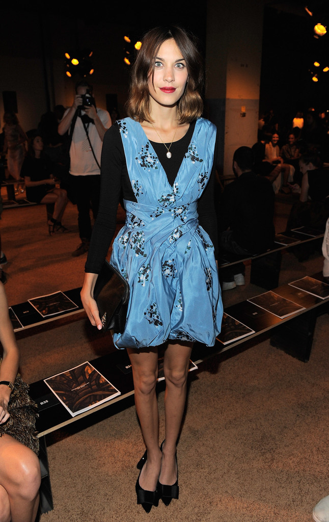 Media personality Alexa Chung attends the Proenza Schouler Spring 2012 fashion show during Mercedes-Benz Fashion Week at 330 West St. on September 14, 2011 in New York City