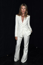Nina Garcia suited up in this white wide-leg number by Zac Posen for Brooks Brothers for the 'Project Runway' fashion show.