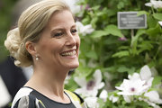Sophie Countess of Wessex's chignon was a sophisticated hairstyle choice for the flower show.