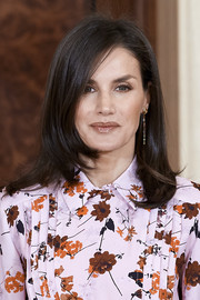 Queen Letizia of Spain sported her usual long bob while attending audiences at Zarzuela Palace.