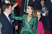 Queen Letizia of Spain Print Dress