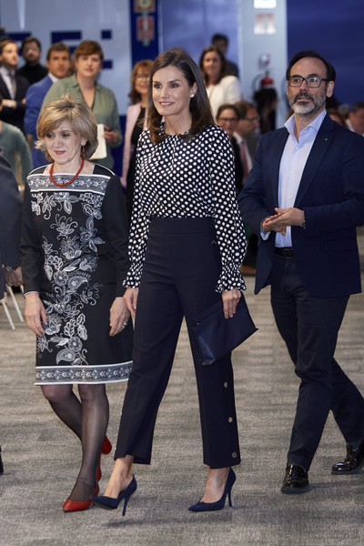 More Pics of Queen Letizia of Spain Pumps (2 of 12) - Heels Lookbook - StyleBistro [letizia of spain attends,event related to mass media and mental health at efe agency headquarters,fashion,event,footwear,street fashion,dress,leg,suit,white-collar worker,fashion design,shoe,letizia of spain,april 03,c,spain,madrid,medios de comunicacion y salud mental,event in madrid]