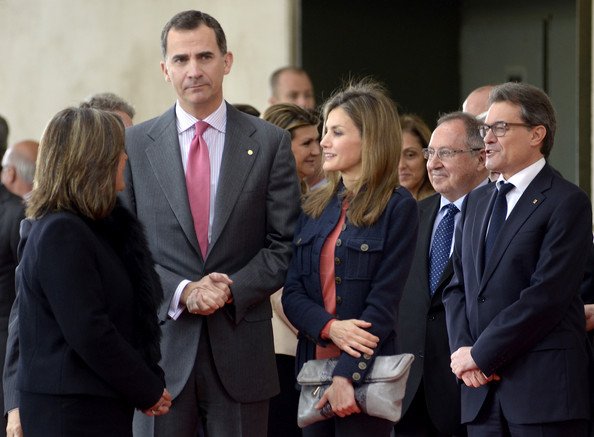 Queen Letizia of Spain Leather Clutch
