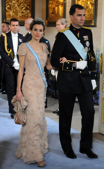 Queen Letizia of Spain Satin Purse