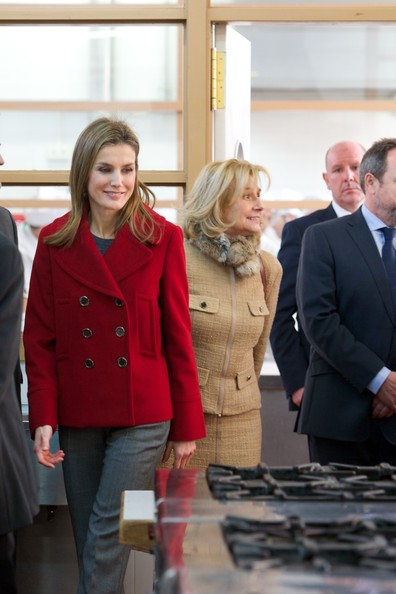 Queen Letizia of Spain Pea Coat