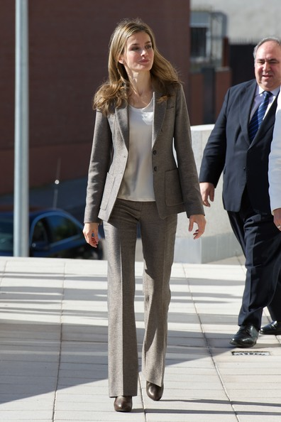 Queen Letizia of Spain Pantsuit
