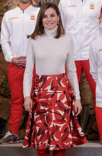 Queen Letizia of Spain Turtleneck