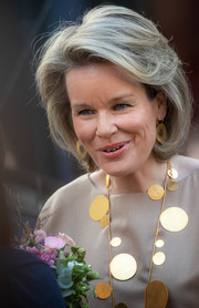 Queen Mathilde of Belgium wore a classic bob at the Global Girls Summit.