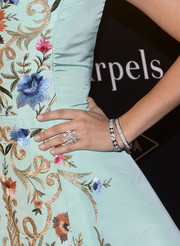 Camilla Belle showed off a stunner of a diamond ring at the Quest for Beauty: The Art of Van Cleef & Arpels event.