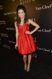 AnnaLynne McCord looked ultra feminine in a strapless red fit-and-flare dress during the Art of Van Cleef & Arpels event.