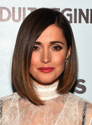 Rose Byrne attended the New York premiere of 'Adult Beginners' wearing a fabulous asymmetrical bob.