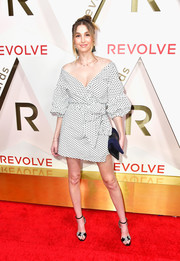 Whitney Port was stylish and feminine in an off-the-shoulder polka-dot dress at the #REVOLVEawards.
