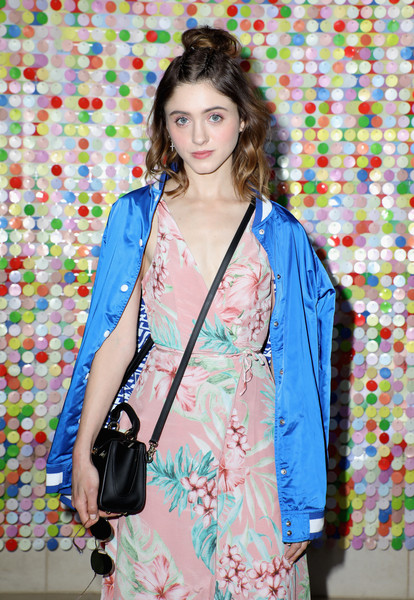 More Pics of Natalia Dyer Canvas Sneakers (1 of 2) - Athletic Shoes Lookbook - StyleBistro [natalia dyer,clothing,blue,fashion,shoulder,textile,fashion design,pattern,outerwear,costume,dress,la quinta,california]