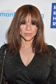 Rosie Perez wore a high-volume straight 'do with flippy ends and rounded bangs at the Ripple of Hope Awards.
