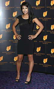 Konnie Huq kept her red carpet look super sleek and cool with this basic LBD.