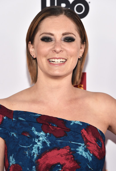 Rachel Bloom Bob [red carpet,hair,shoulder,face,clothing,hairstyle,red,beauty,eyebrow,headband,lip,rachel bloom,trevorlive la 2015,trevorlive la,hollywood palladium,los angeles,california]