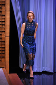 Rachel McAdams rocked the sheer trend (while staying classy) in this Self-Portrait dress during her appearance on 'Jimmy Fallon.'