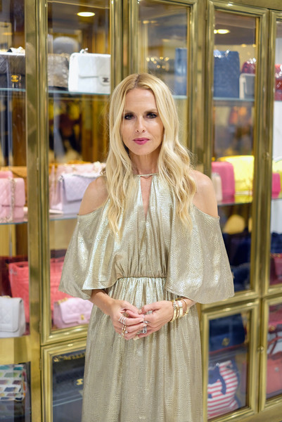 Rachel Zoe Gold Bracelet [hair,blond,clothing,street fashion,pink,fashion,beauty,yellow,shopping,long hair,rachel zoe,what goes around comes around pop,pop-in,east hampton,new york,what goes around comes around]