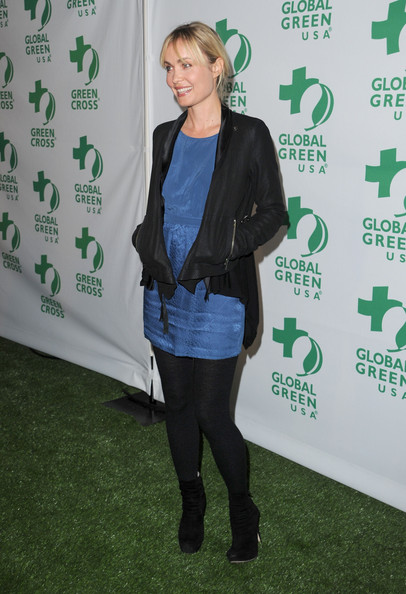 Radha Mitchell Leather Jacket [red carpet,green,outerwear,footwear,event,flooring,jacket,style,radha mitchell,greener cities for a cooler planet,avalon,california,hollywood,global green usa,8th annual pre-oscar party,party,pre-oscar]