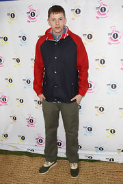 Professor Green paired two-tone Oxfords with his sporty get-up at Radio 1's 2011 Big Weekend.