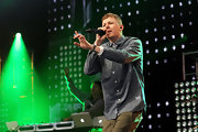 Professor Green kept it simple with a chambray button-down for his 2011 Big Weekend performance.