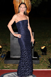 Jaws dropped as Claire Forlani arrived at a Raisa Gorbachev Foundation party in this stunning strapless evening gown.