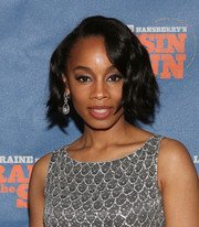 Anika Noni Rose looked stylish with her short wavy cut at the Broadway opening of 'A Raisin in the Sun.'