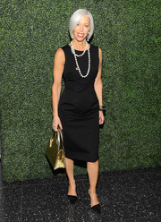 Linda Fargo kept it simple yet classic in this sleeveless LBD during the screening of 'To Catch a Thief.'