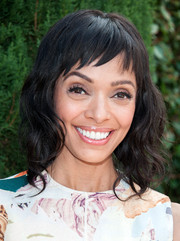 Tamara Taylor sported shoulder-length waves with cute baby bangs at the Rape Foundation's annual brunch.