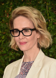 Sarah Paulson wore casual short waves to the Rape Foundation's annual brunch.