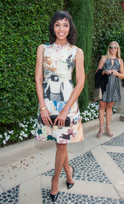 Tamara Taylor donned a fun and chic sleeveless print dress for the Rape Foundation's annual brunch.