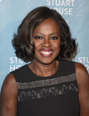 Viola Davis showed off a sweet curled-out bob at the Rape Foundation's dedication ceremony for the new Stuart House.