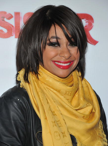 More Pics of Raven-Symone Medium Straight Cut with Bangs (3 of 10) - Raven-Symone Lookbook - StyleBistro