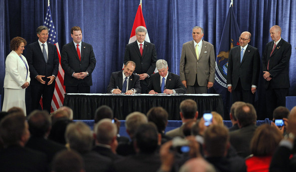 Canadian PM Joins US Officials To Announce New Detroit-Canada Bridge
