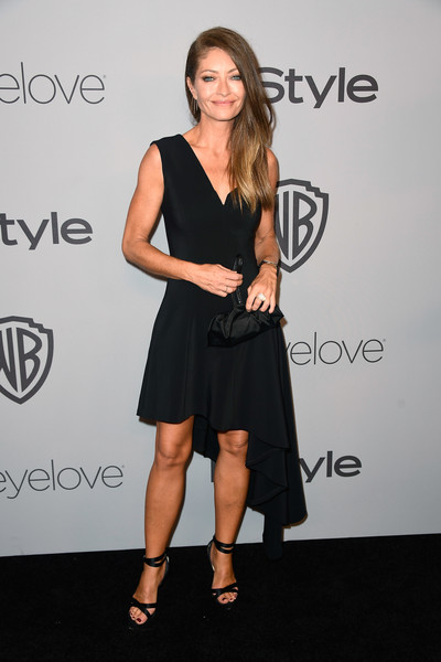 Rebecca Gayheart Little Black Dress [clothing,dress,shoulder,little black dress,cocktail dress,fashion,hairstyle,fashion model,footwear,joint,arrivals,rebecca gayheart,beverly hills,california,the beverly hilton hotel,warner bros. pictures,instyle host,post-golden globes party]